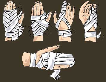 Как перевязку сделать на руку